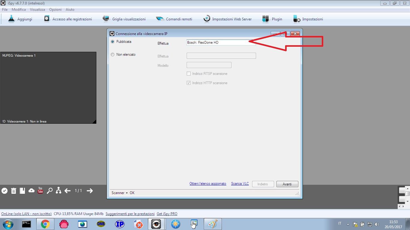 Spiare WebCam con iSpy