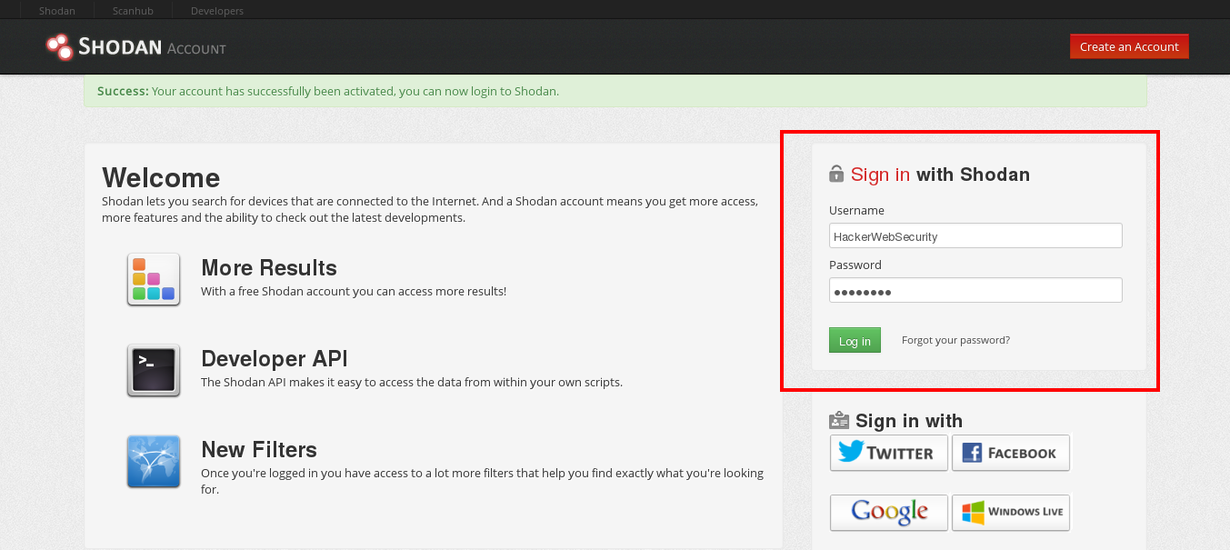 Shodan Search Engine Login – Hacker Web Security